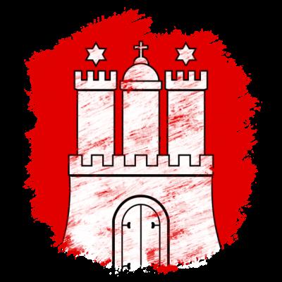 Hamburg - Wappen der Freien und Hansestadt Hamburg ohne Titel - Wappen,Hansestadt,Hamburg,Freie und Hansestadt