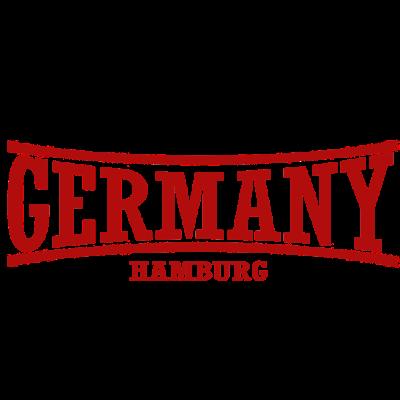 germany-Hamburg-Rot - Länderlogo von Deutschland mit der Stadt Hamburg.  - rot,Hamburg,Germany