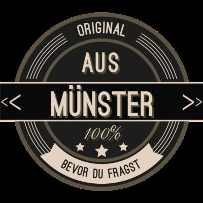 Original aus Münster 100% - Original aus Münster 100% - stätte,stadt,region,heimat,Münster,Landschaft,Kreis