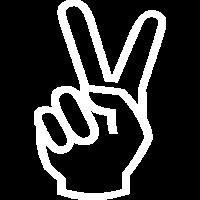Peacezeichen in Weiss