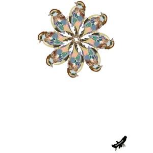 'Sparrow Mandala' by BlackenedMoonArts, w. logo