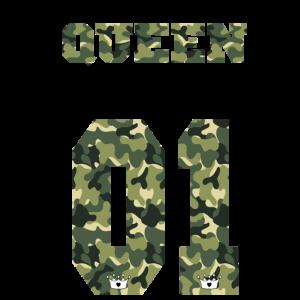 Queen Camouflage Shirt