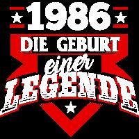 1986 Geburtstag Geburtstagsgeschenk Legende