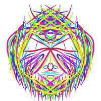 face trippy abstract psychedelic colorful