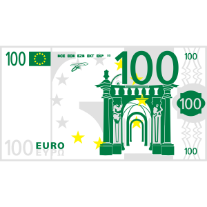 100 EUR Geld Schein Bank Geldschein green grün