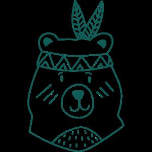 Bär Indianer