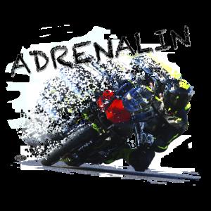 Motorrad und Adrenalin