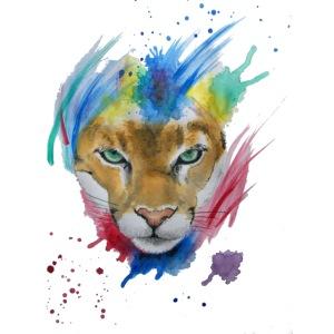 Mountain Lion Watercolors Nadia Luongo