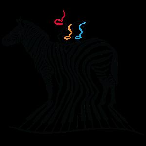 Zebra-Druck-Klavier