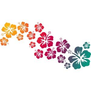 BALI hibiscus blooms coloured
