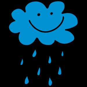 Lustige Wolke mit Regentropfen, Wetter, Frühling, Wasser