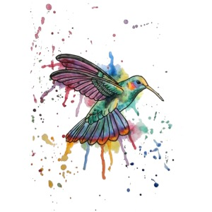 Hummingbird Watercolors Nadia Luongo