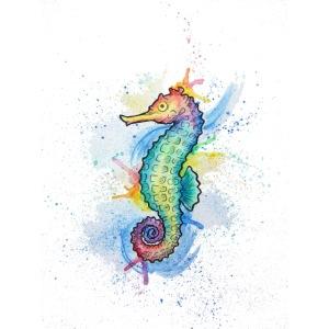 Seahorse Watercolors Nadia Luongo