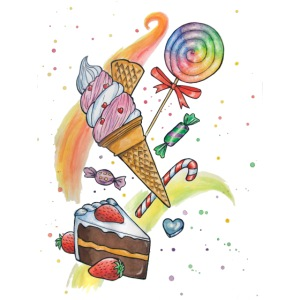 Sweets Watercolors Nadia Luongo