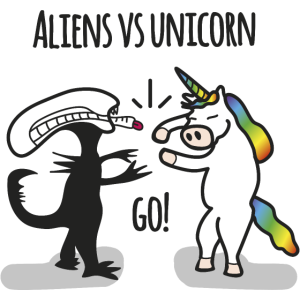 Aliens vs. Unicorn