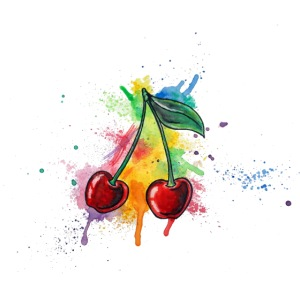 Cherries Watercolors Nadia Luongo