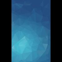 Blue Polygon Fläche