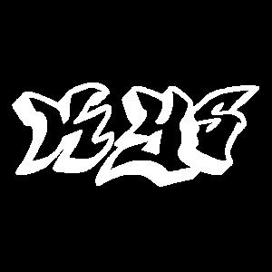 Kys Graffiti Weiß