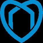 Blaue Haus Logo Herz (Flock)
