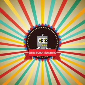 Little Robot Adventure - Robot Retro Logo