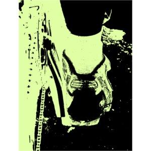 shoe green black copy