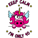 Licorne KEEP CALM I'm only 40 ans