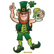 Saint Patrick's Day Leprechaun Drinking Beer