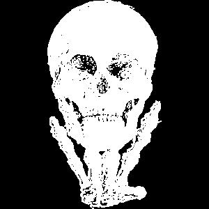 Rock Schädel, weiß für dunkle Textilien