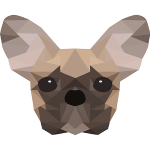 French Bulldog Low Poly