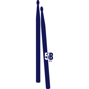 a pair of 5B drumsticks