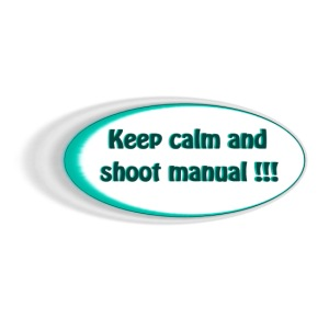 Keep calm and shoot manual slogan