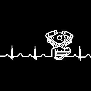 V2 Shovelhead Heartbeat white