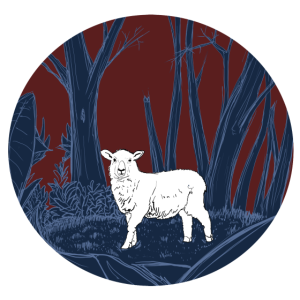 Schaf im Wald