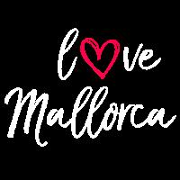 love Mallorca in weiss
