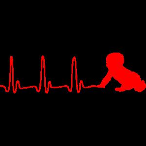 EKG HERZLINE BABY rot