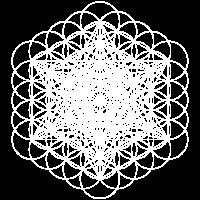 Metatronen Würfel weiß