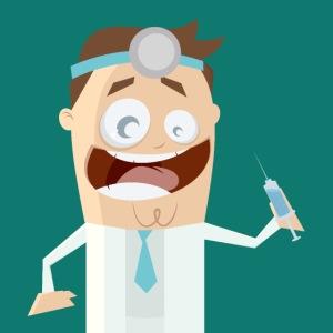 Lustiger verrückter Arzt
