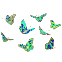 Frühlings Tshirt, Schmetterlinge, blaugruen