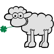 Sheep with clover