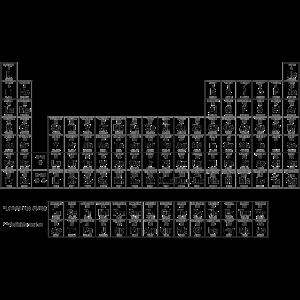 Periodic Table black