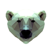 3D Polygon Design Bear Icebear T-Shirt Tee