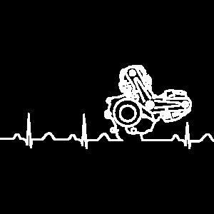 Heartbeat weiß