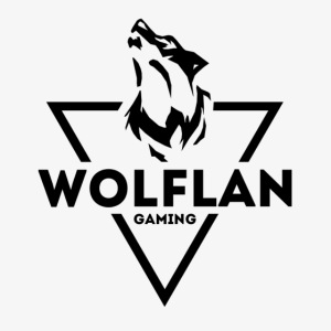 WolfLAN Gaming Logo Black