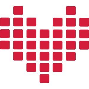 Digital Heart Herz Pixel Symbol PX love Liebe Icon