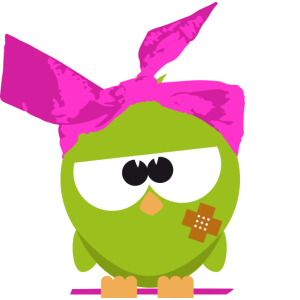 Birdie mit Kopftuch