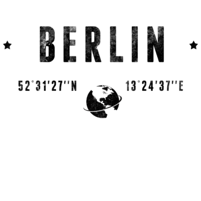 Berlin - Berlin - reist,reisende,erdet,Welt,Urlaub,Typographie,Trend,Tourismus,Stadt,Reiseziel,Planet Erde,Mode,Längengrad,Latitude,Koordinaten,Jahrgang,Grafik,Geschenkidee,Geographie,Deutschland,Design,Berlin
