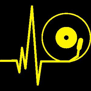 House DJ Vinyl Heartbeat