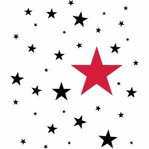 Sterne zweifarbig