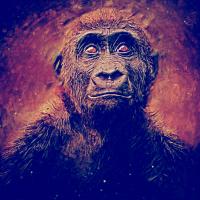 Ernster Affe
