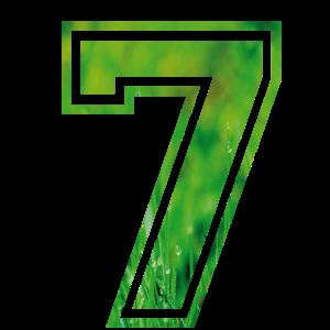 Alphabet 7 Zahl Buchstabe Geburtstagsgeschenk